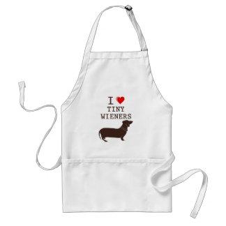 Funny I Love Tiny Wiener Dachshund Standard Apron
