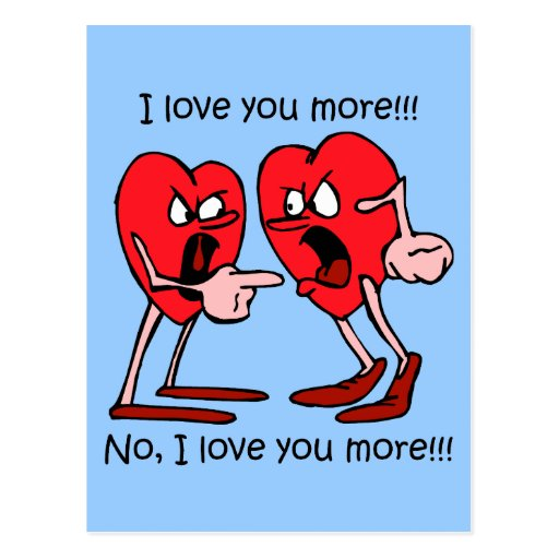 Funny I love you Post Cards