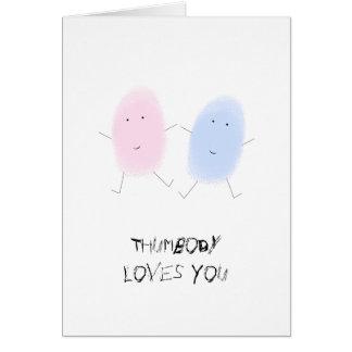 Funny I Love You Thumb Prints Card