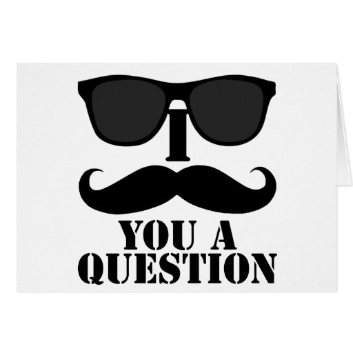 Funny I Moustache You A Question Black Sunglasses Card
