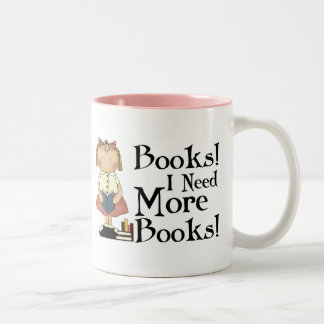 Funny I Need More Books T-shirt Two-Tone Coffee Mug