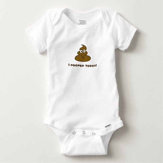 Funny I Pooped Today Emoji Baby Onesie