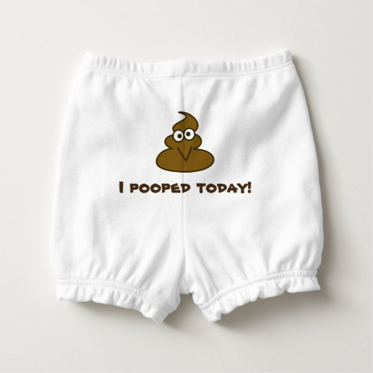Funny I Pooped Today Emoji Nappy Cover