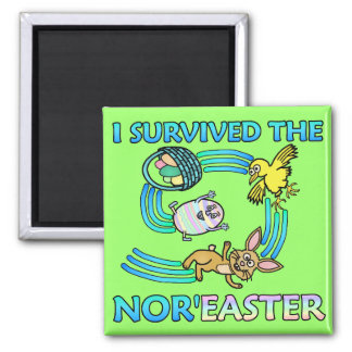 Funny I Survived the Nor'Easter Refrigerator Magnets