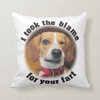 Funny I took the blame for your fart Beagle Pillow