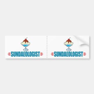 Funny Ice Cream Sundae Bumper Sticker
