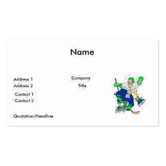 funny ice hockey collision graphic pack of standard business cards