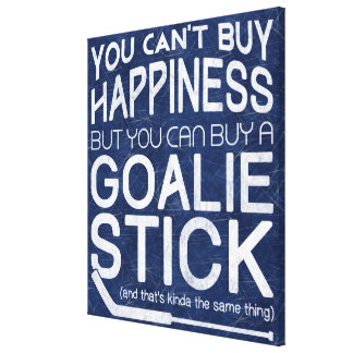 Funny Ice Hockey Goalie Artwork Stretched Canvas Prints