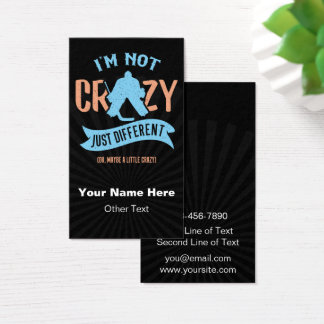 Funny Ice Hockey Goalie, Hockey Business Cards