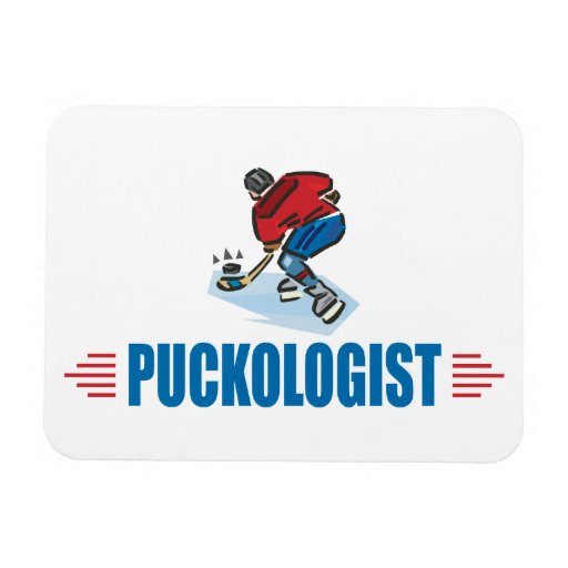 Funny Ice Hockey Rectangular Magnets
