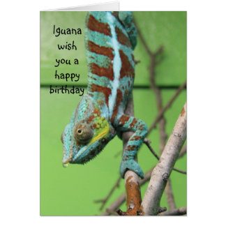 Funny Iguana Birthday Card, share the cake Card