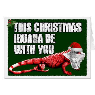 Funny Iguana Card