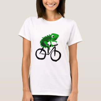 Funny Iguana Riding Bicycle T-Shirt