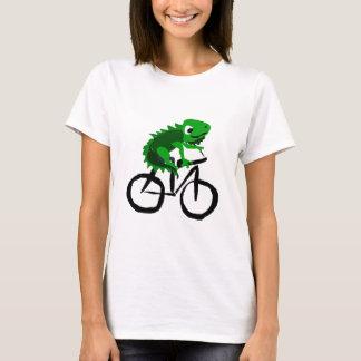 Funny Iguana Riding Bicycle T-Shirt