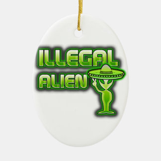Funny Illegal Alien Christmas Ornament