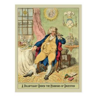 Funny Illustration by James Gillray Postcard