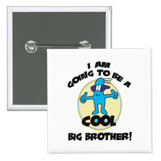 Funny I'm Going To Be A Big Brother 15 Cm Square Badge