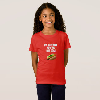 "Funny: ""I'm just here for the Hot Dogs"" BBQ, party T-Shirt"