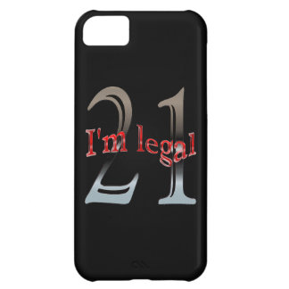 Funny I'm Legal Age 21 Years Old Birthday iPhone 5C Cases