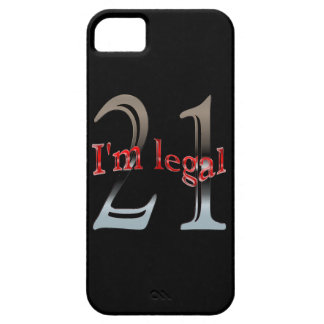 Funny I'm Legal Age 21 Years Old Birthday iPhone 5 Cases