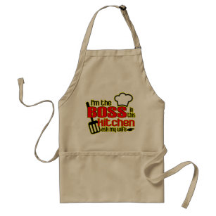 (Funny) I'm the BOSS in this Kitchen Apron