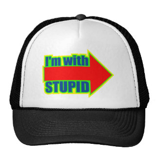 Funny I'm With Stupid T-shirts Gifts Cap