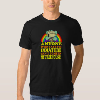 Funny Immature Treehouse Tee Shirts