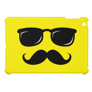 Funny incognito smiley mustache trendy hipster iPad mini cover