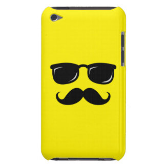 Funny incognito smiley mustache trendy hipster iPod touch Case-Mate case