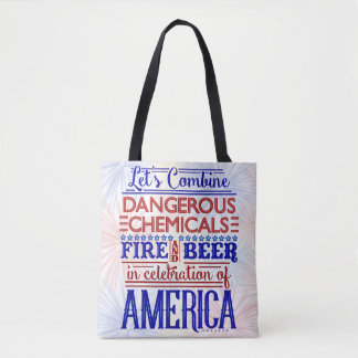 Funny Independence Day July 4th | Beer Fireworks Tote Bag