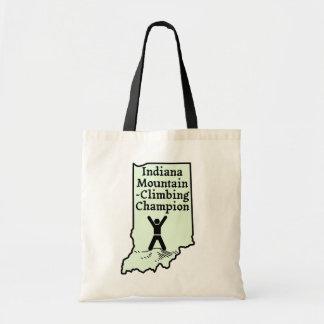Funny Indiana Mountain Climbing Champion Budget Tote Bag