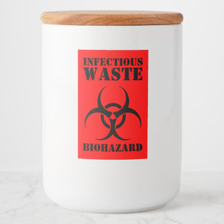 Funny Infectious Waste Biohazard Halloween Food Label