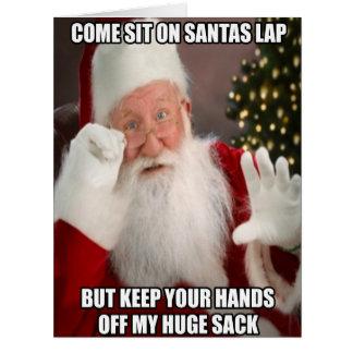 Funny innuendo Santa meme Big Greeting Card