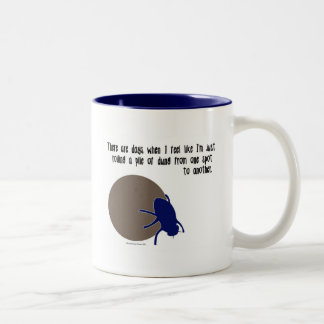 Funny insect mug - dung beetles
