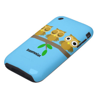 funny insomniac owl iPhone 3 tough covers