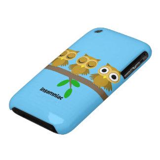 funny insomniac owl iPhone 3 case