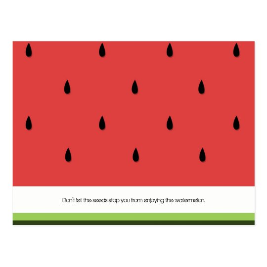 Funny & Inspirational Watermelon Postcard