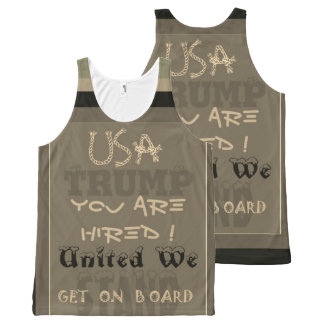 Funny inspired USA you are hired United We Trump All-Over Print Tank Top