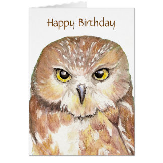 Funny Insult  Owl Birthday Card