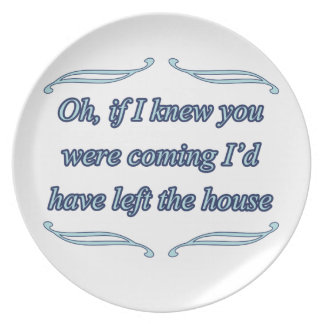 funny insult party plate