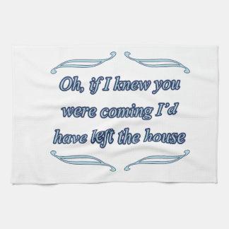 funny insult tea towel
