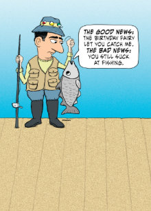 Funny Insulting Fish Birthday Card