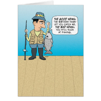 Funny Insulting Fish Birthday Greeting Card