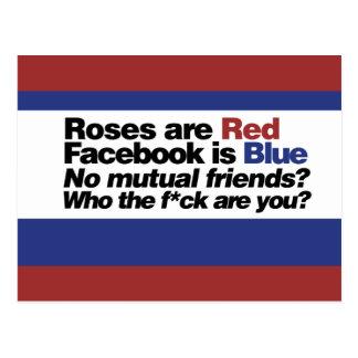 Funny internet poem postcard