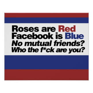 Funny internet poem poster