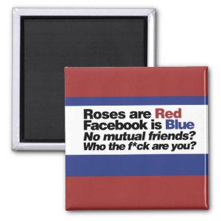 Funny internet poem square magnet