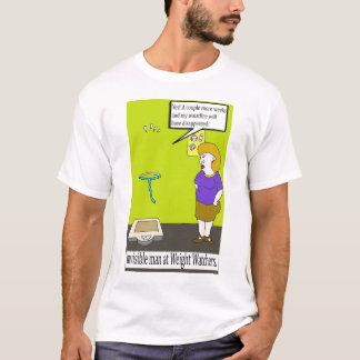Funny invisible man cartoon t-shirt. T-Shirt