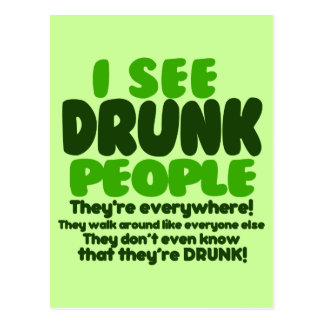 Funny Irish Beer Drinking Post Cards