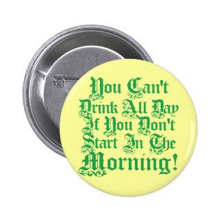 Funny Irish Drinking Humor 6 Cm Round Badge