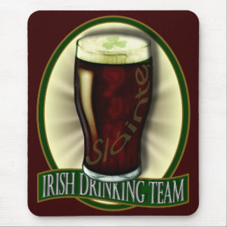 Funny Irish Drinking Team Mouse Pad